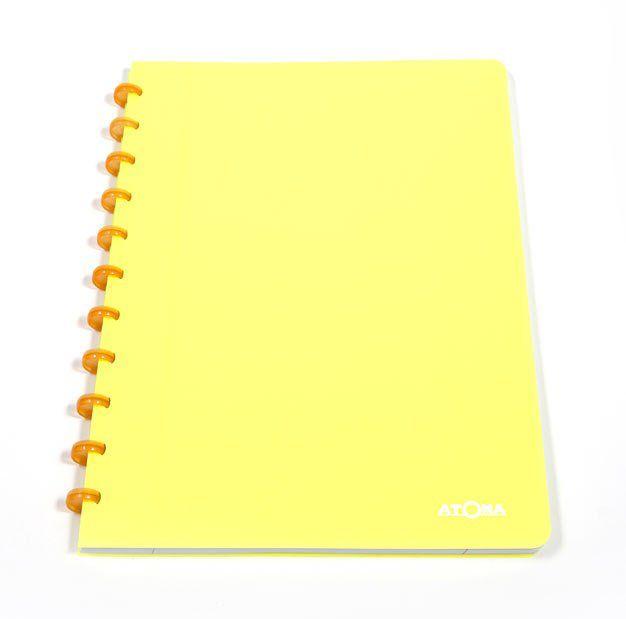 Caderno A4 72 fls amarelo NEON Atoma