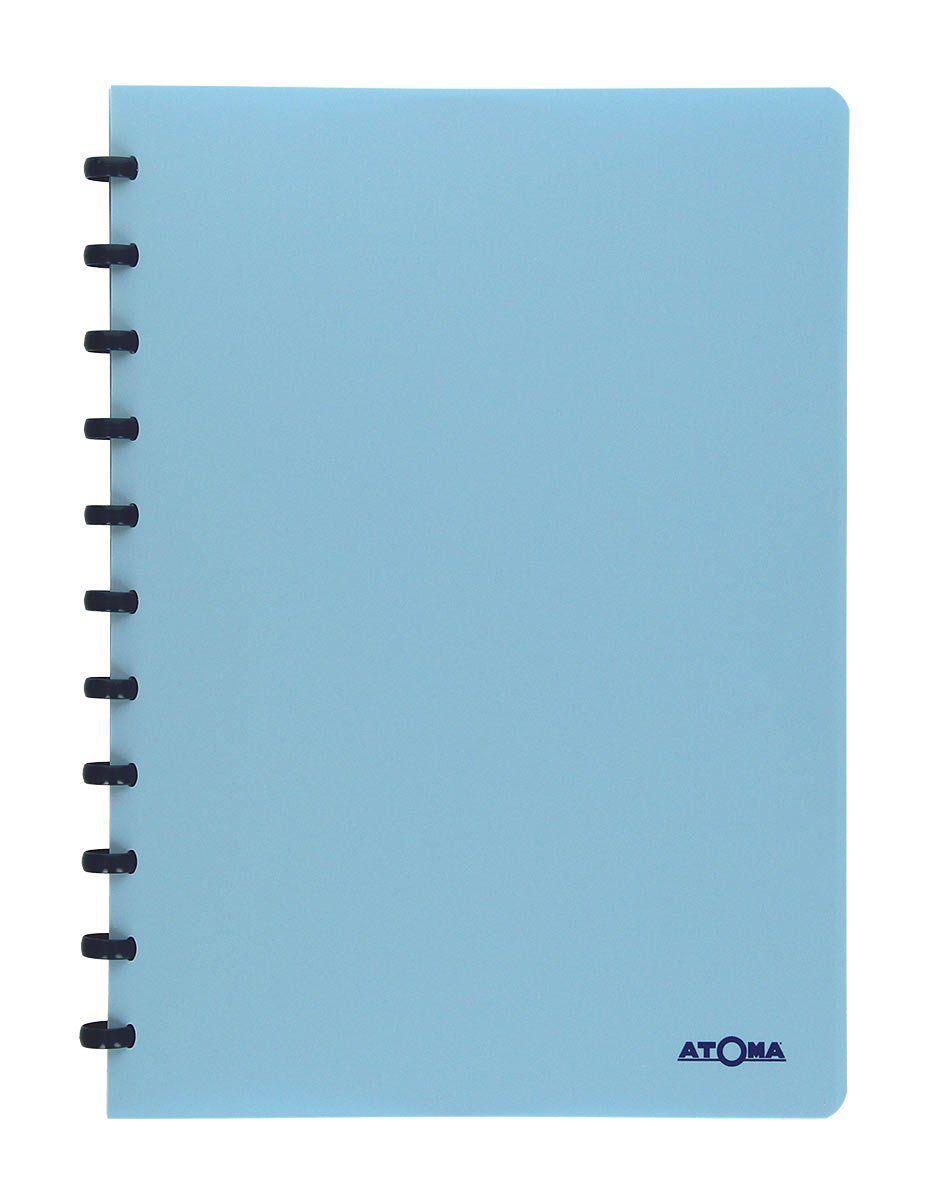 Caderno A4 72 fls azul PASTEL Atoma