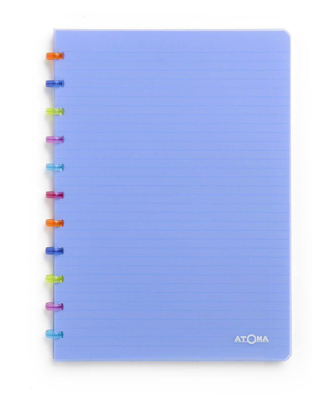 Caderno A4 72 fls azul TUTTI FRUTI Atoma
