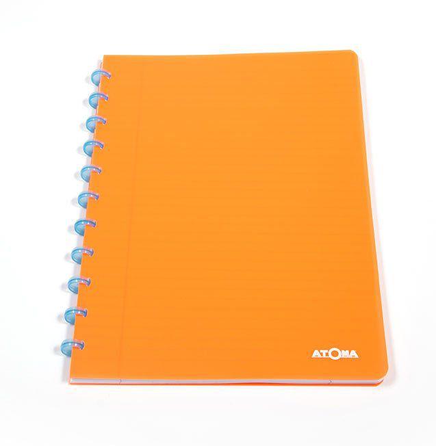 Caderno A4 72 fls laranja NEON Atoma
