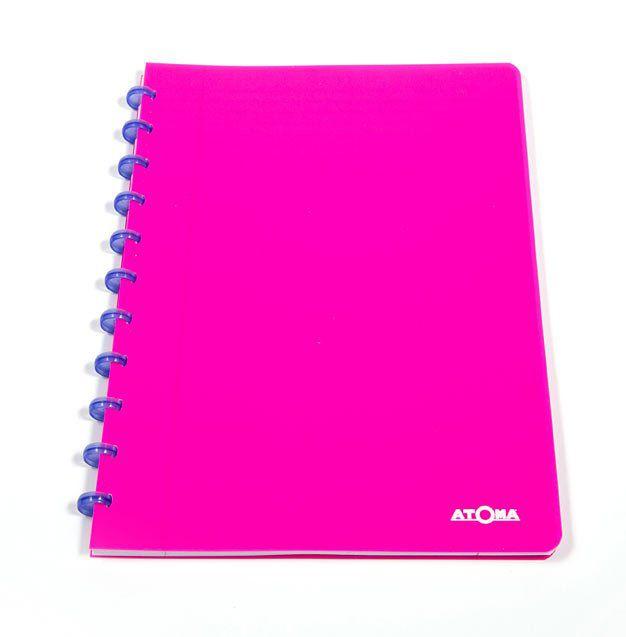 Caderno A4 72 fls rosa NEON Atoma