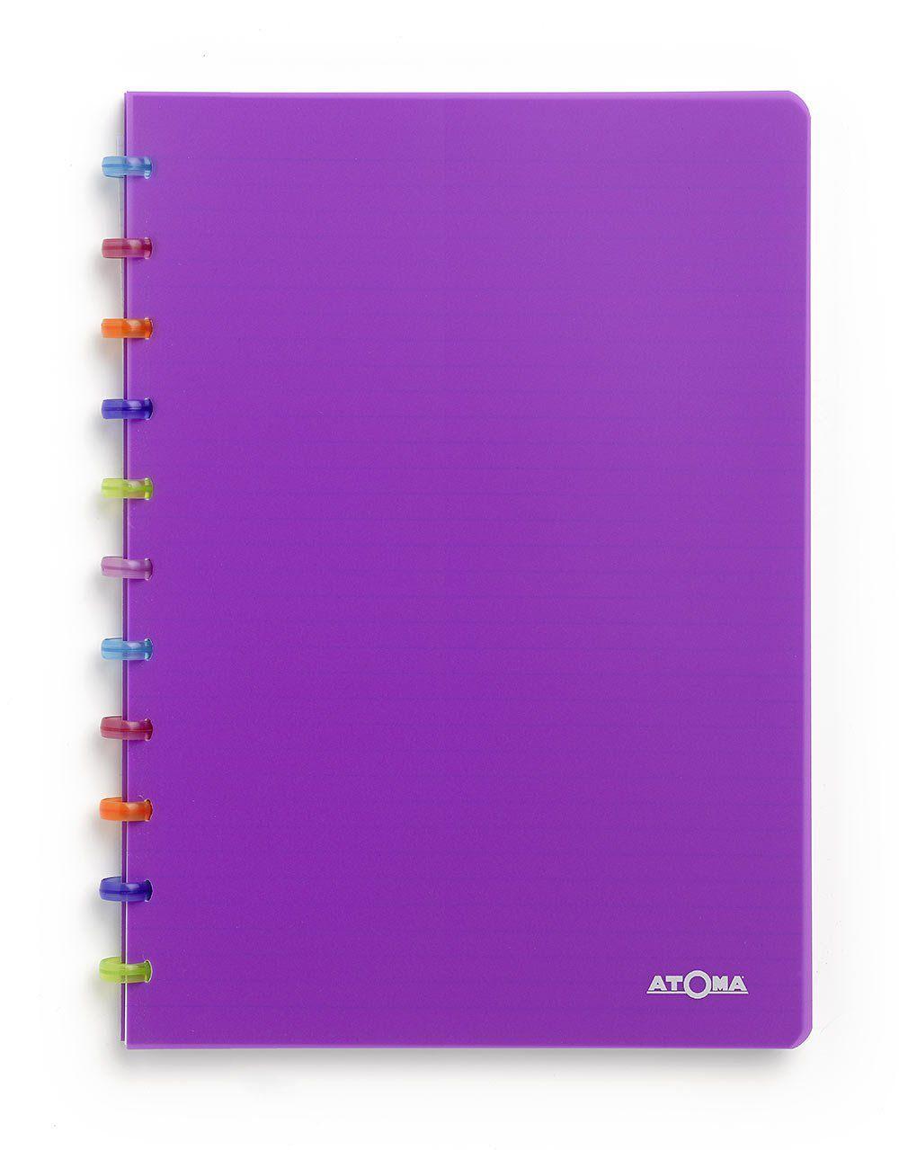 Caderno A4 72 fls roxo TUTTI FRUTI Atoma
