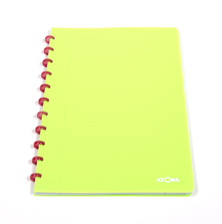 Caderno A4 72 fls verde NEON Atoma