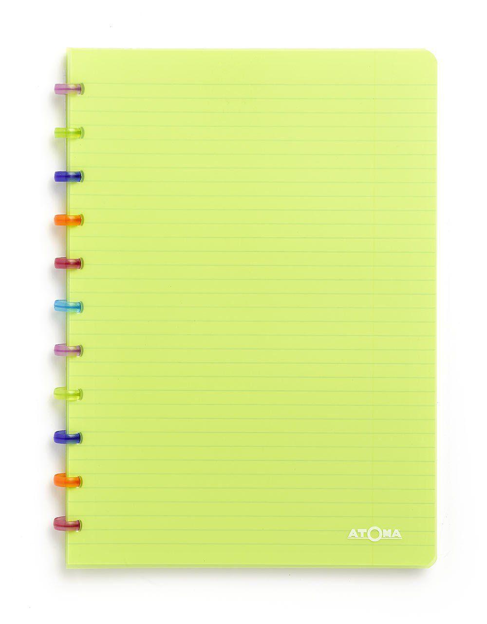 Caderno A4 72 fls verde TUTTI FRUTI Atoma