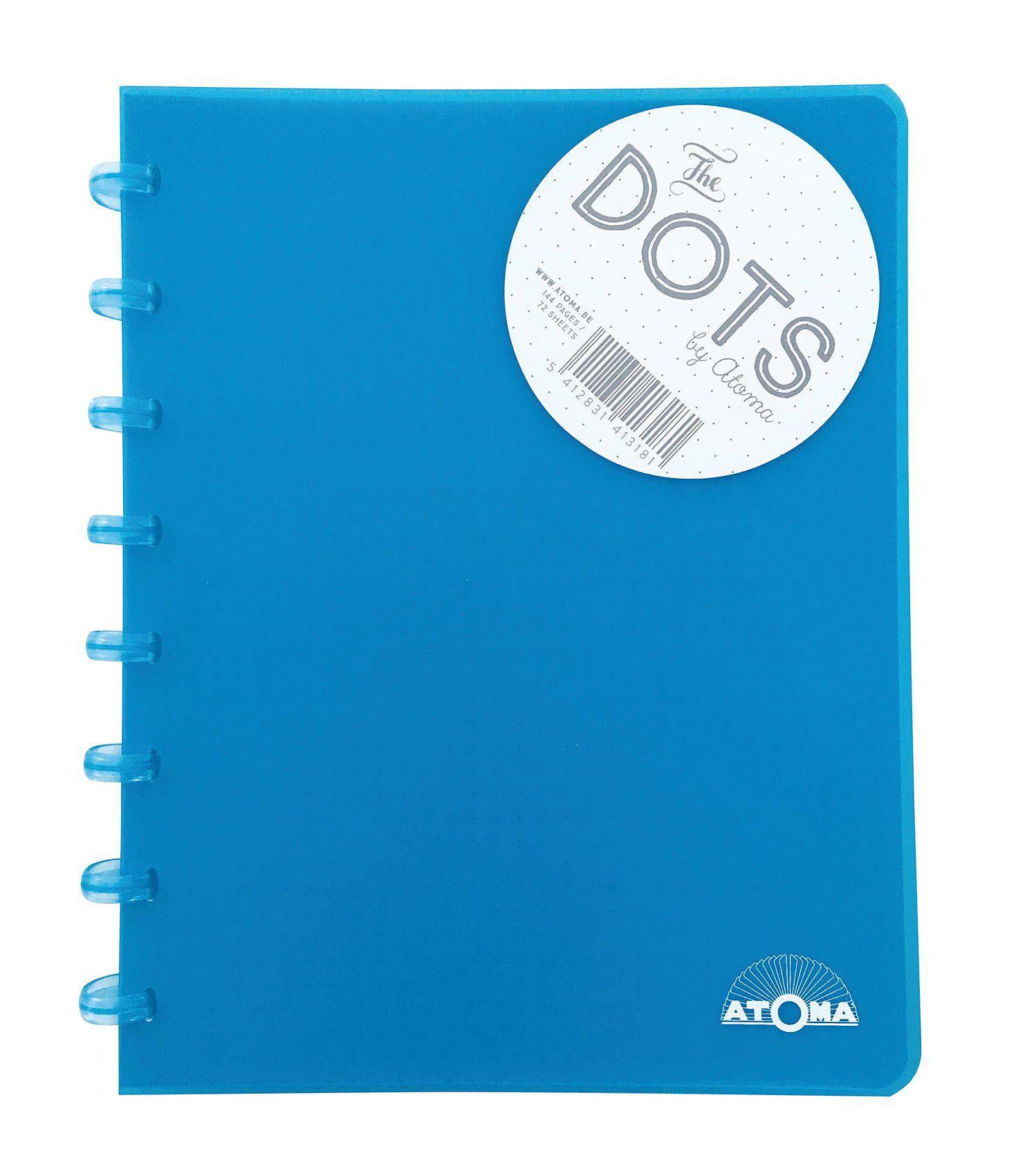 Caderno A5 72 fls turquesa DOTS Atoma