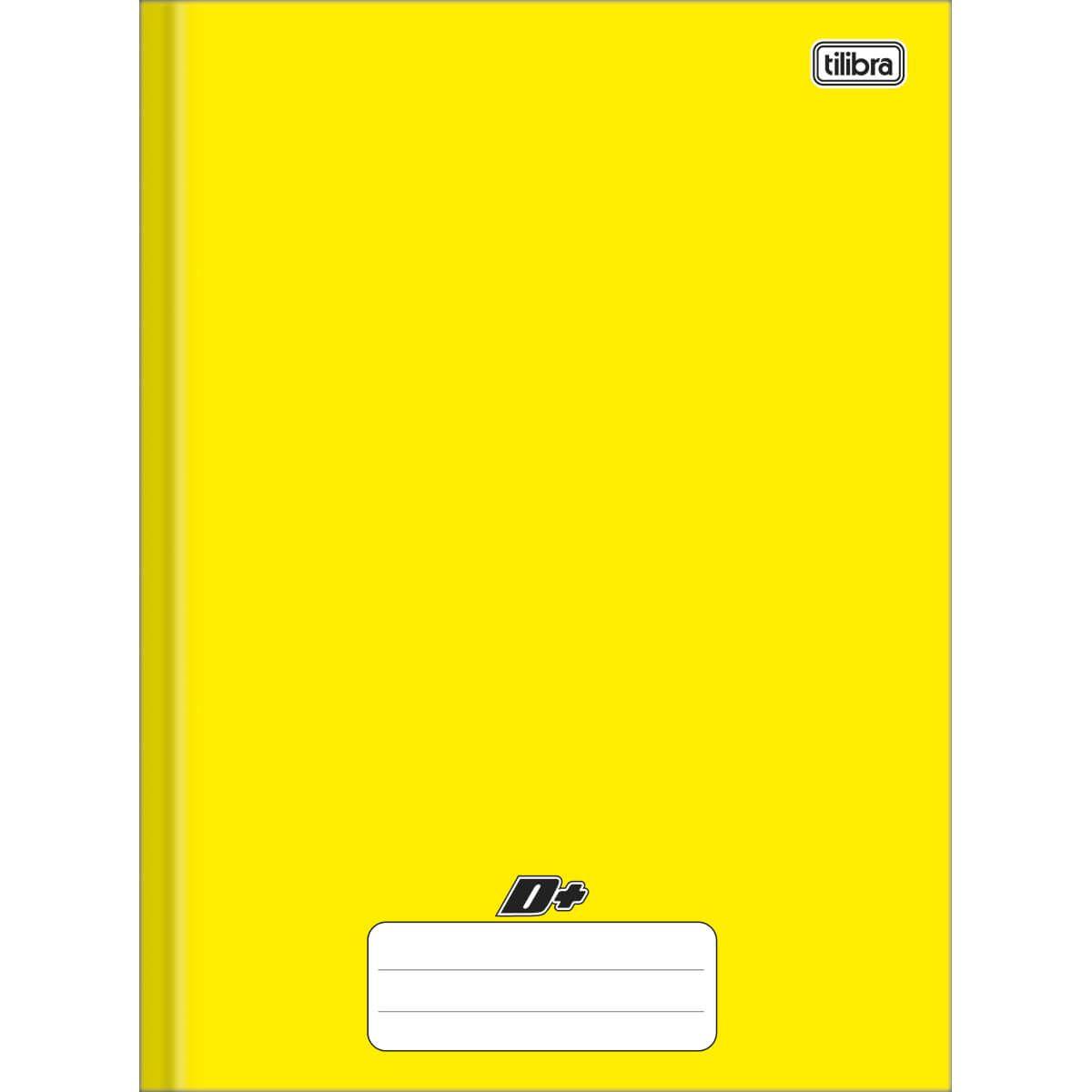 Caderno brochura 1/4 48 fls amarelo D+ Tilibra