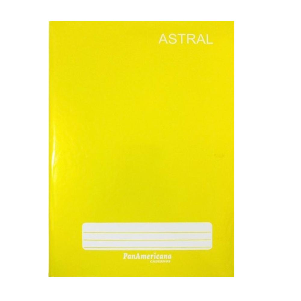 Caderno brochura 1/4 48 fls amarelo Panamericana
