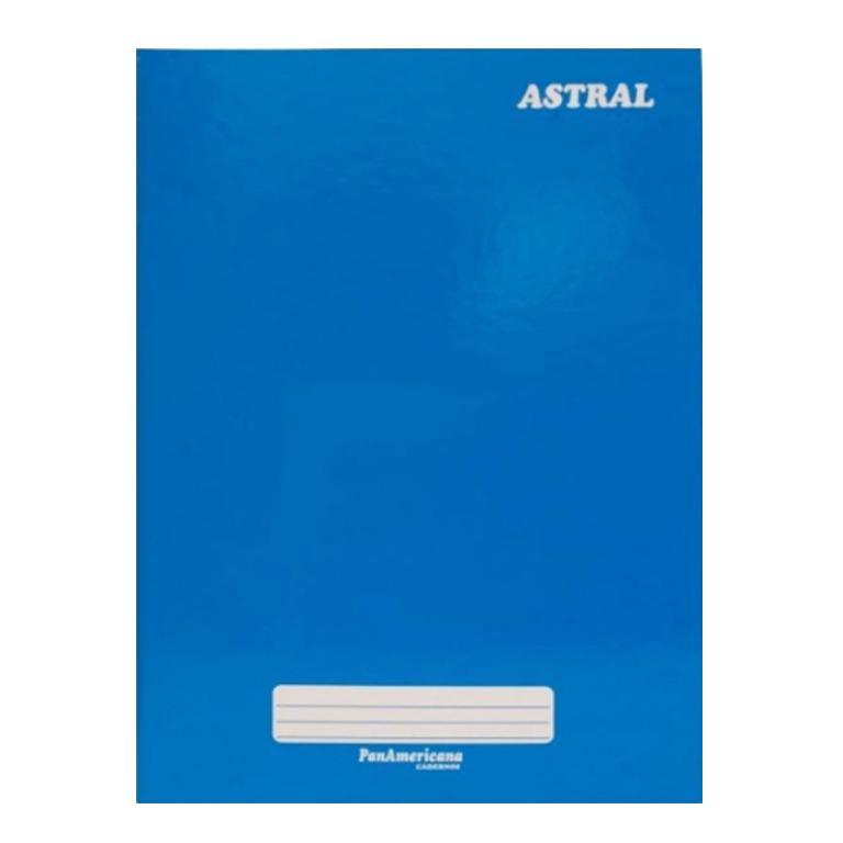 Caderno brochura 1/4 48 fls azul Panamericana