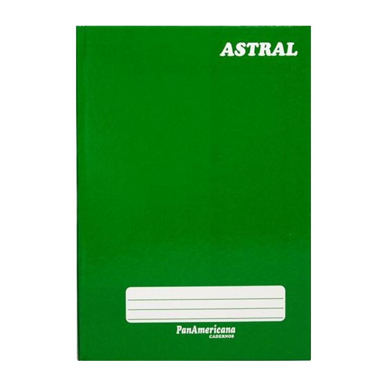 Caderno brochura 1/4 48 fls verde Panamericana