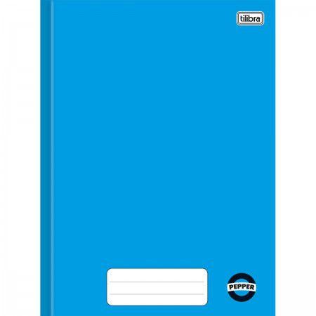 Caderno brochura 1/4 80 fls azul PEPPER Tilibra