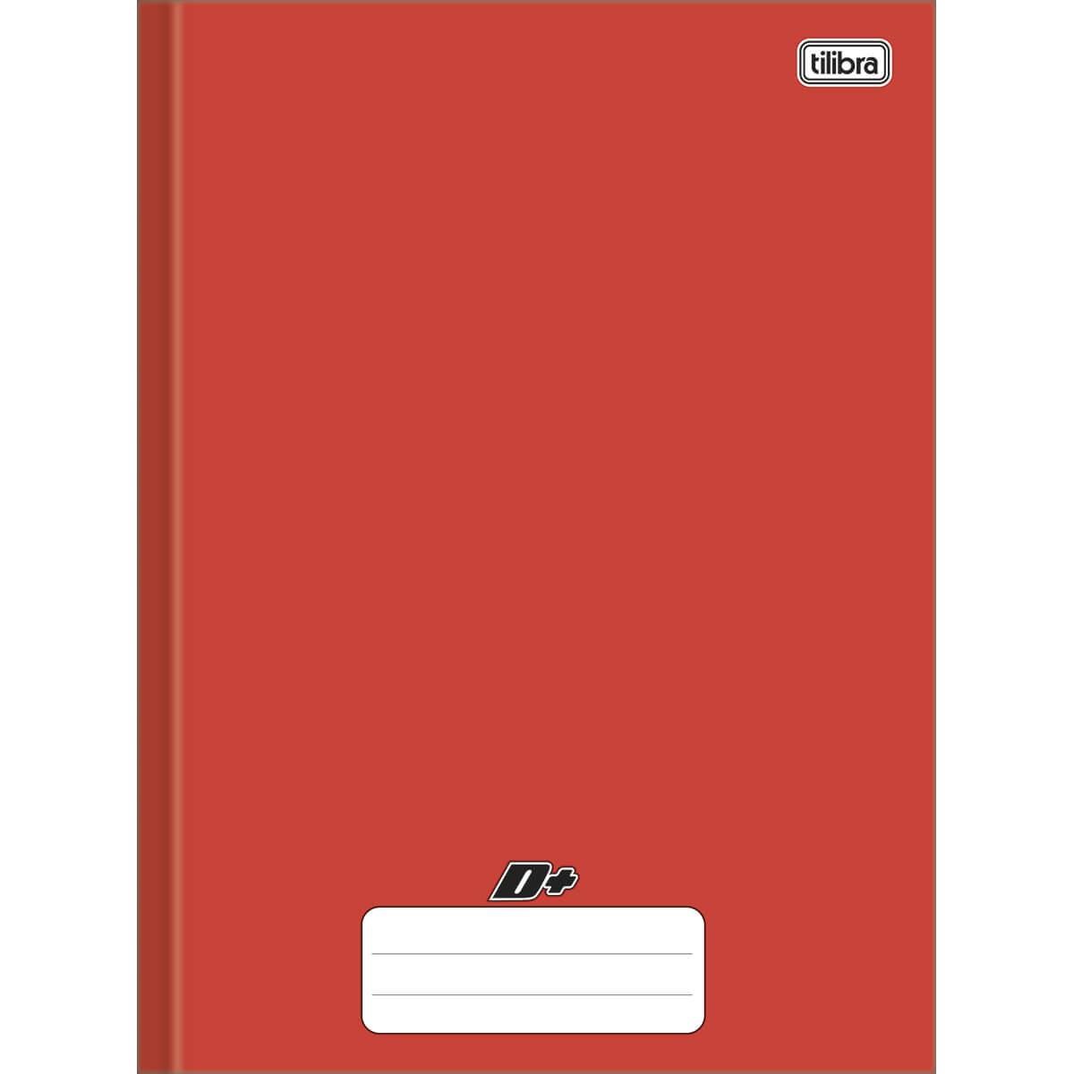Caderno brochura 1/4 96 fls vermelho D+ Tilibra