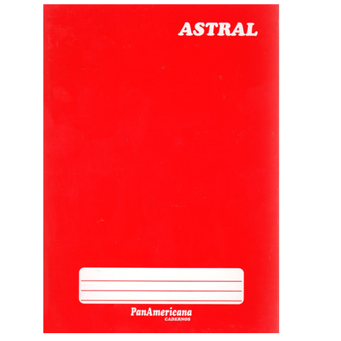 Caderno brochura 1/4 96 fls vermelho Panamericana