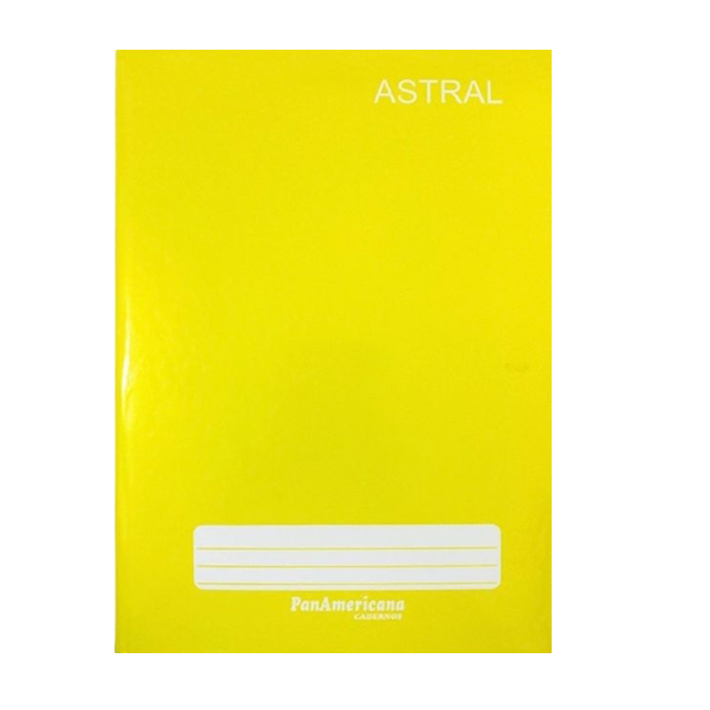 Caderno brochura 48 fls amarelo Panamericana