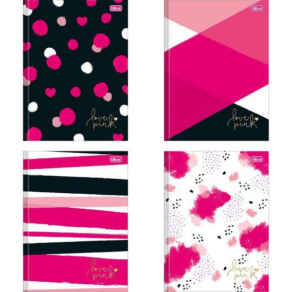 Caderno brochura 48 fls love pink Tilibra