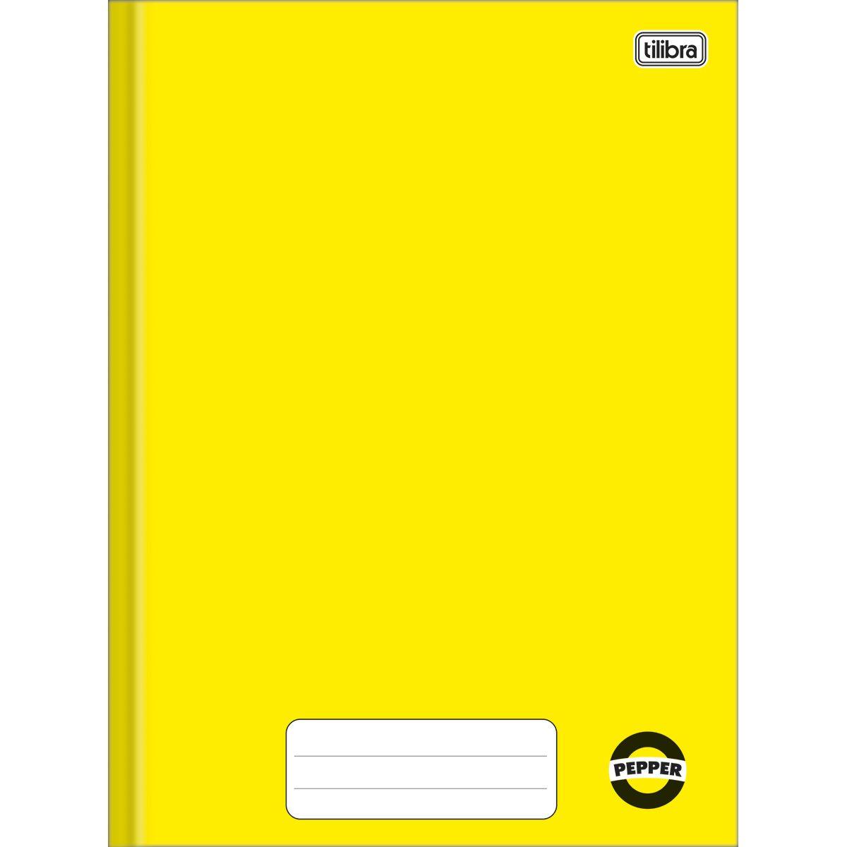 Caderno brochura 80 fls amarelo PEPPER Tilibra