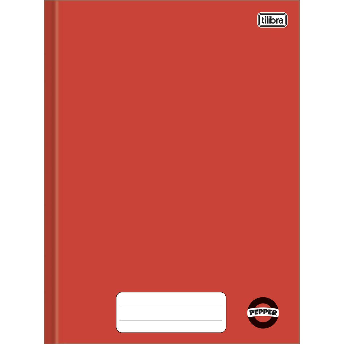 Caderno brochura 80 fls vermelho PEPPER Tilibra