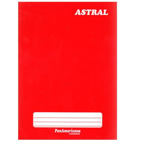 Caderno brochura 96 fls vermelho Panamericana