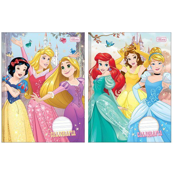 Caderno caligrafia 40 fls Princesas Tilibra