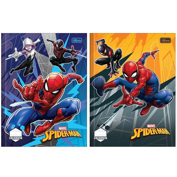 Caderno caligrafia 40 fls Spider-Man Tilibra