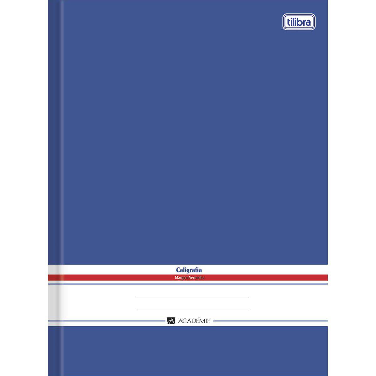 Caderno caligrafia 96 fls azul Academie Tilibra