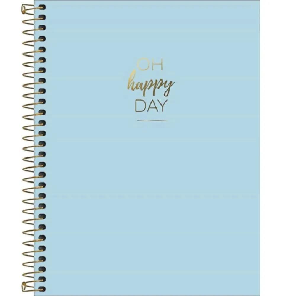 Caderno colegial 10 matérias 160 fls azul Happy Tilibra