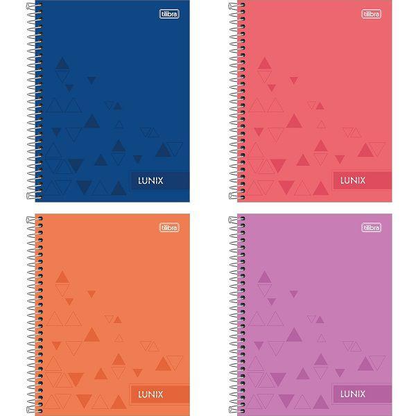 Caderno colegial 10 matérias 160 fls Lunix Tilibra
