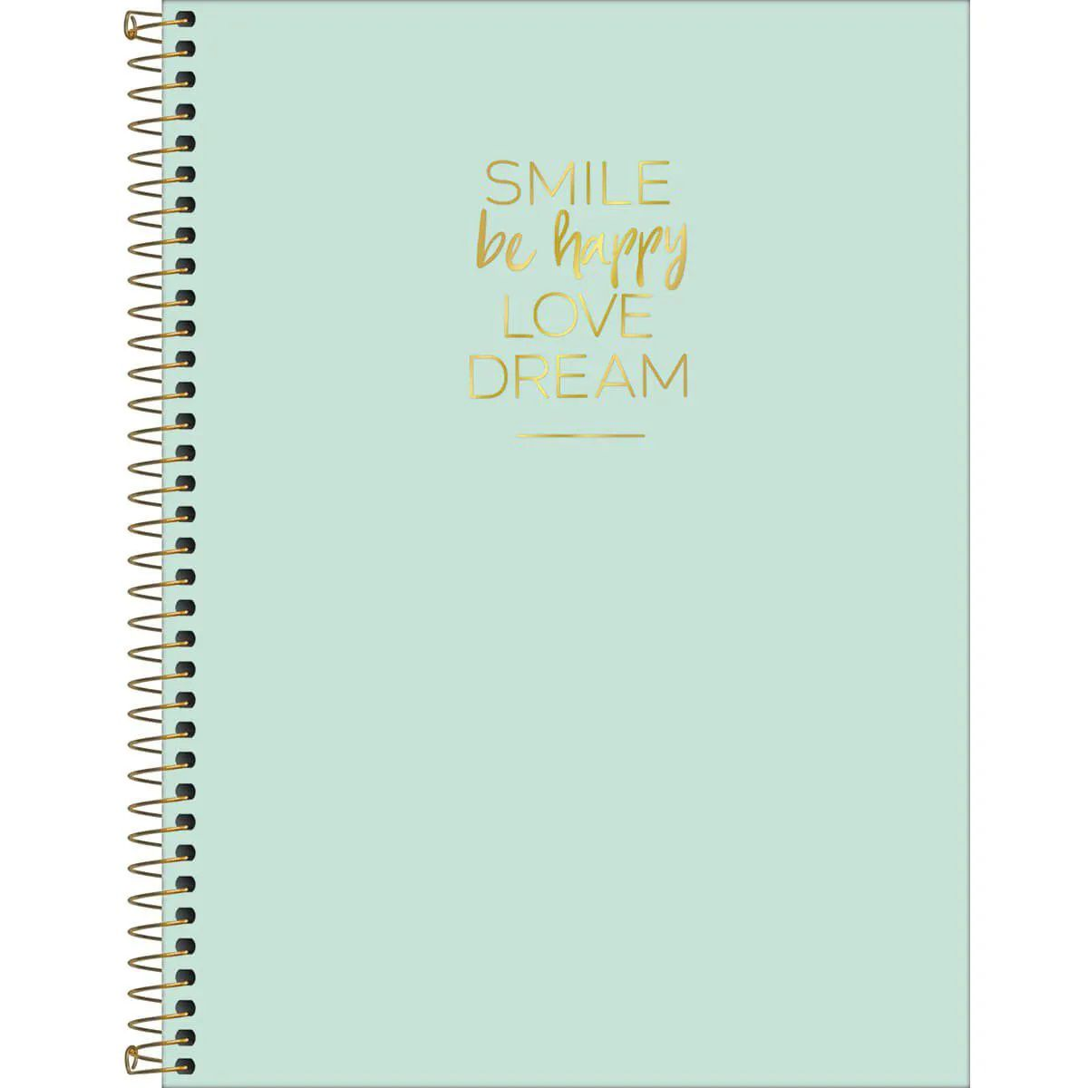 Caderno colegial 10 matérias 160 fls verde Happy Tilibra