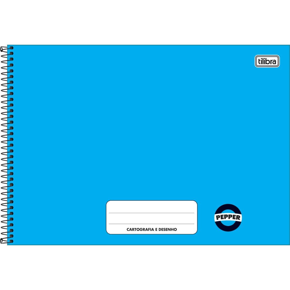 Caderno desenho 80 fls azul PEPPER Tilibra