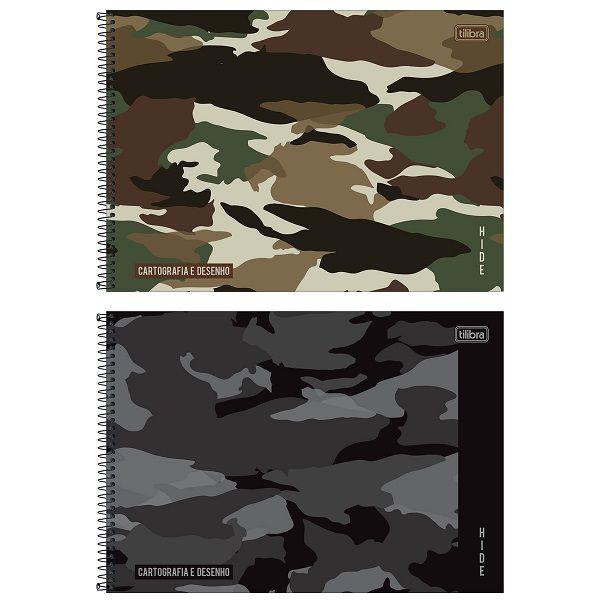 Caderno desenho 80 fls Hide Tilibra