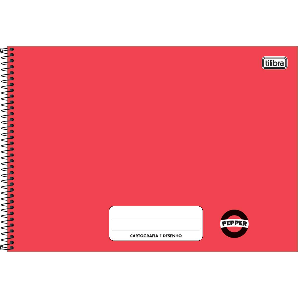 Caderno desenho 80 fls vermelho PEPPER Tilibra