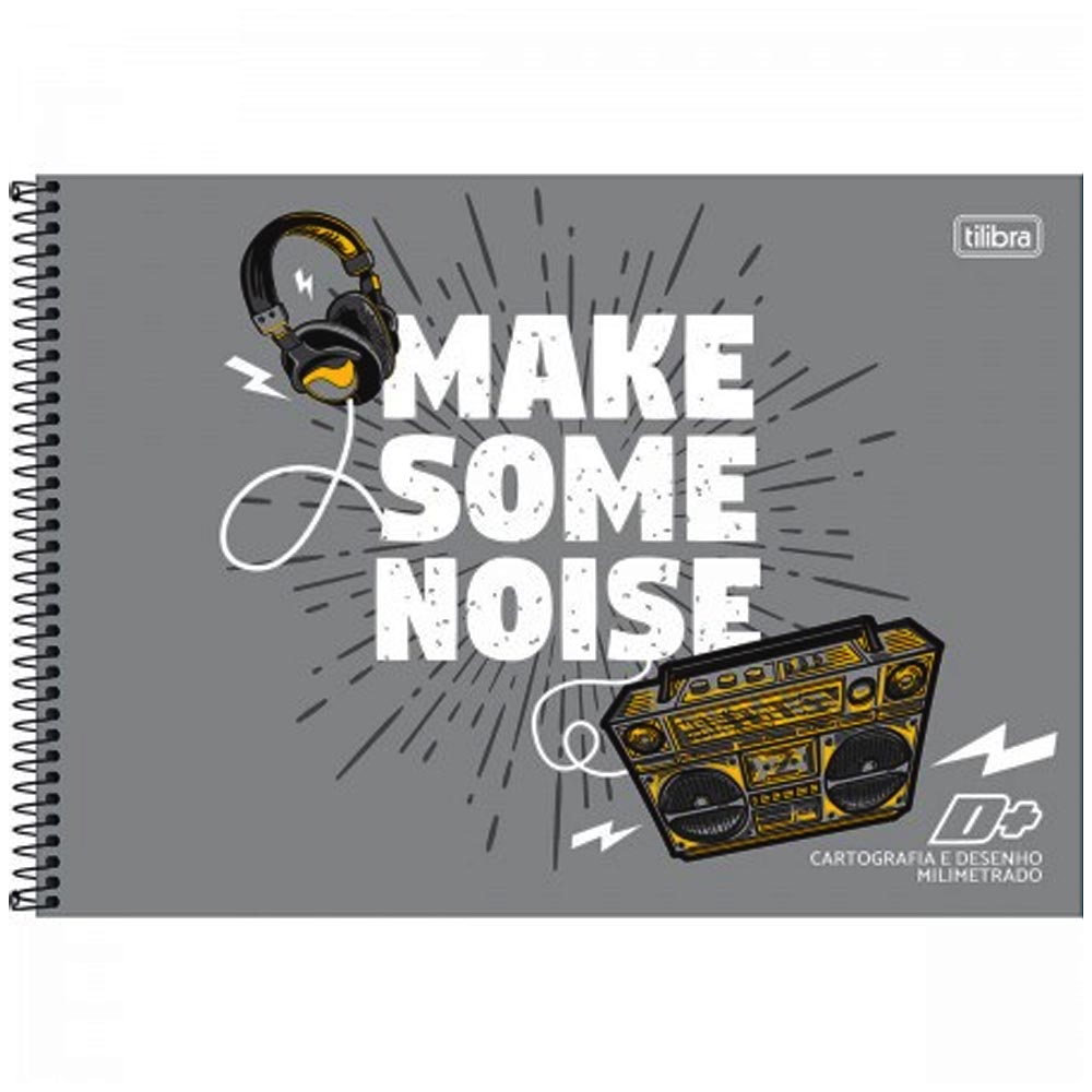 Caderno desenho milimetrado 96 fls D+ MASCULINO Tilibra