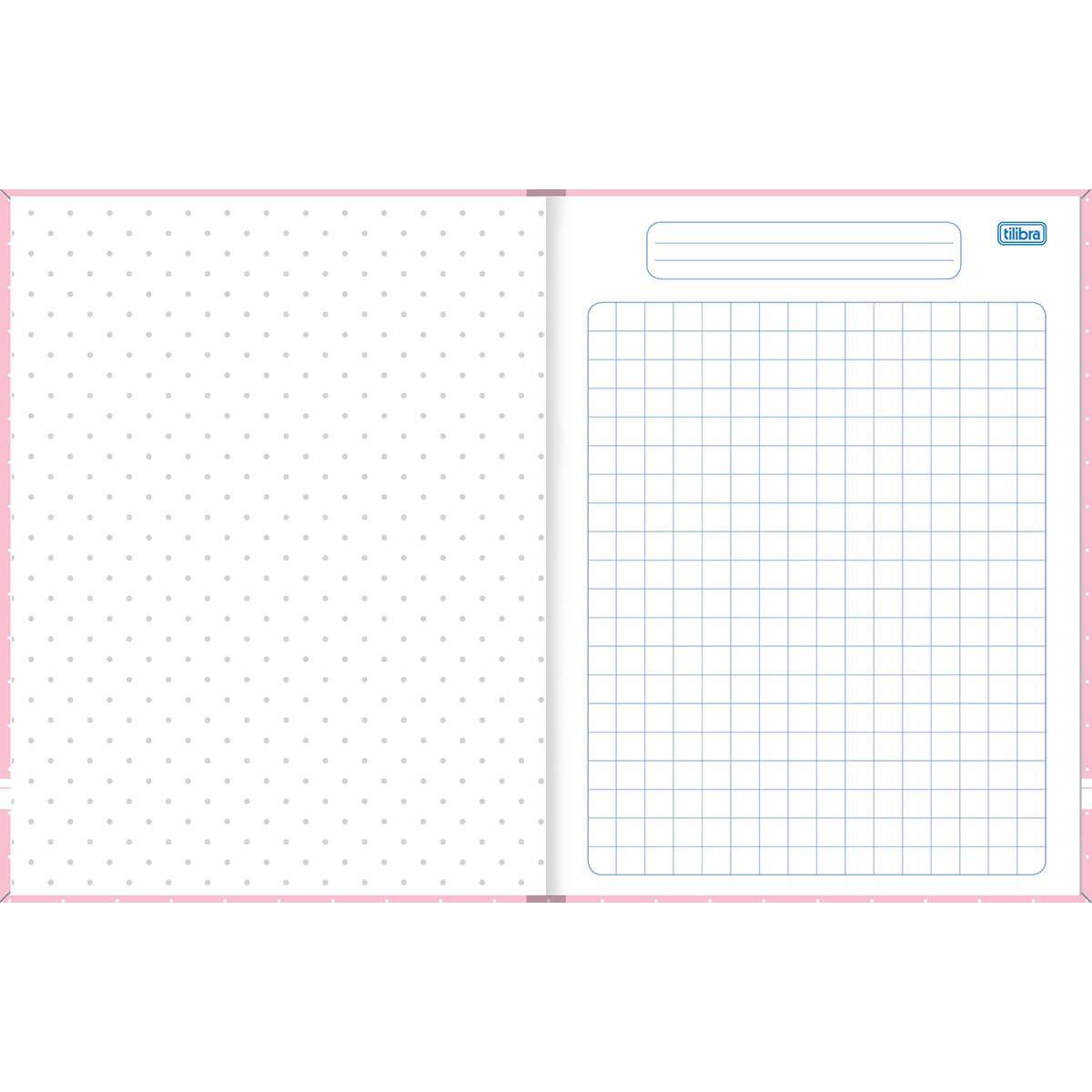 Caderno quadriculado 10x10 40 fls Academie Tilibra