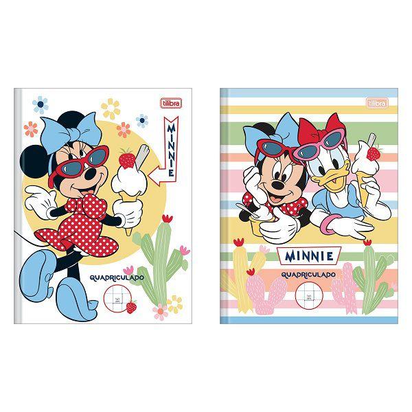 Caderno quadriculado 10x10 40 fls Minnie Tilibra