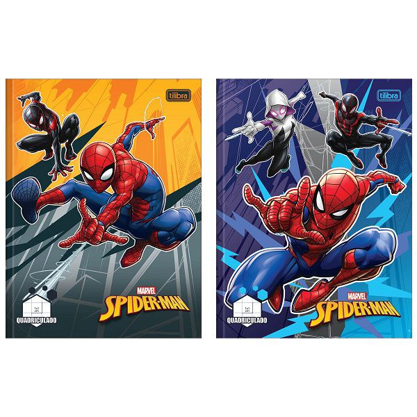 Caderno quadriculado 10x10 40 fls Spider-Man Tilibra