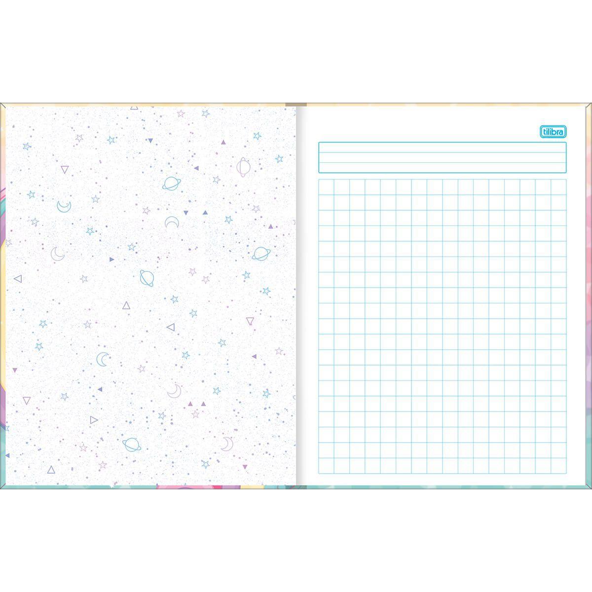 Caderno quadriculado 10x10 48 fls Blink Tilibra