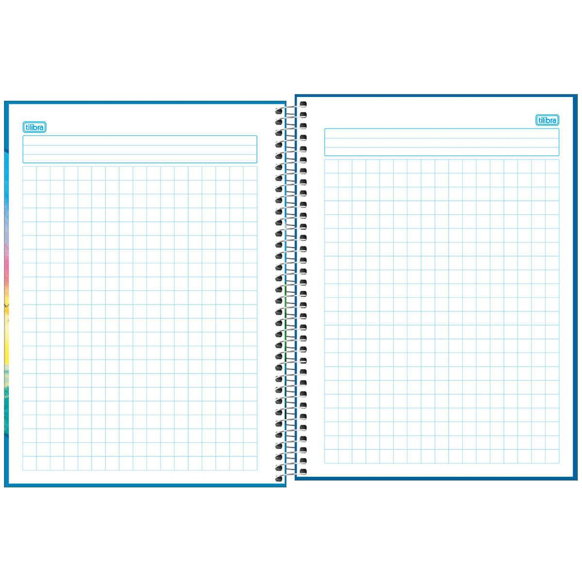 Caderno quadriculado 10x10 96 fls Academie Tilibra