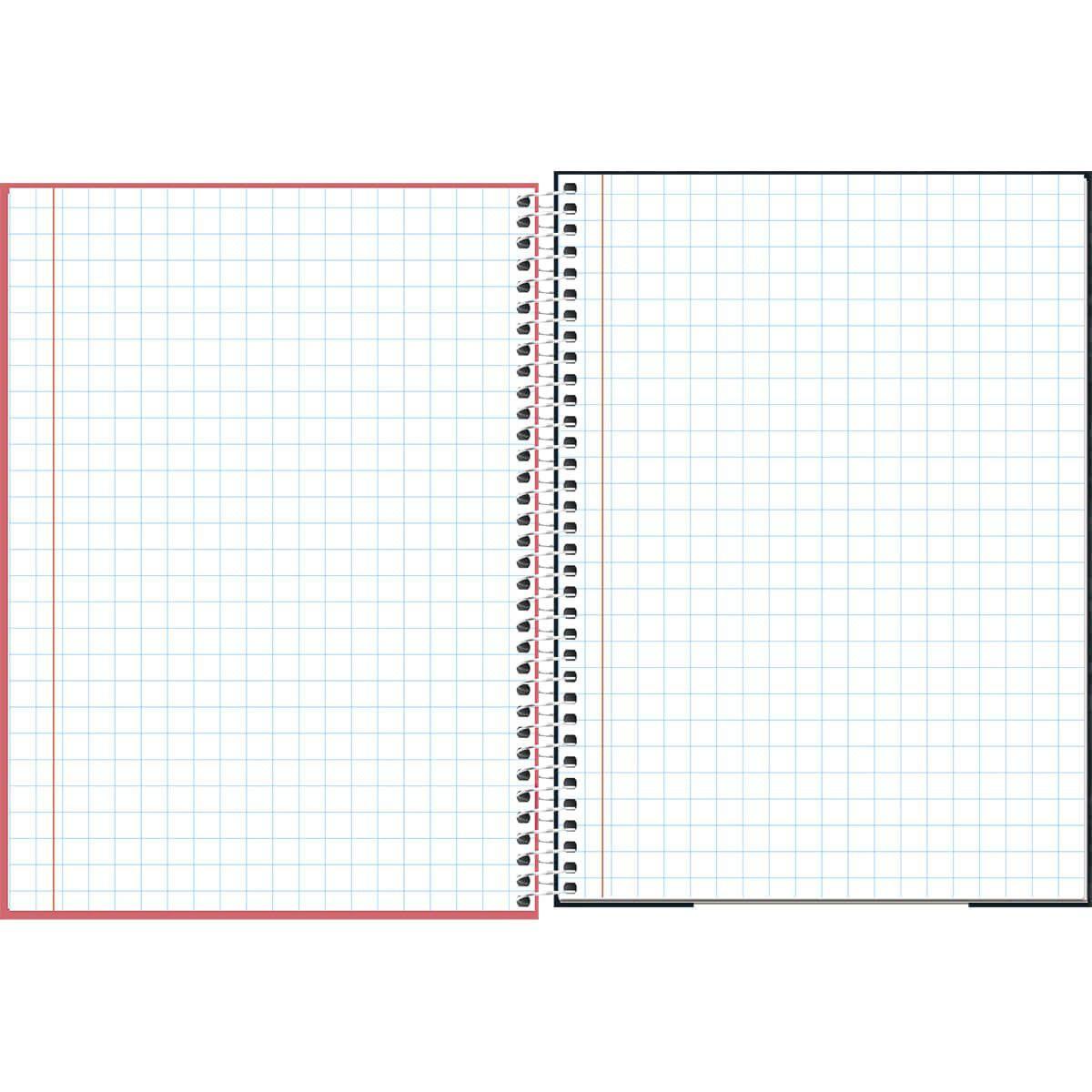 Caderno quadriculado 7x7 80 fls Lunix Tilibra