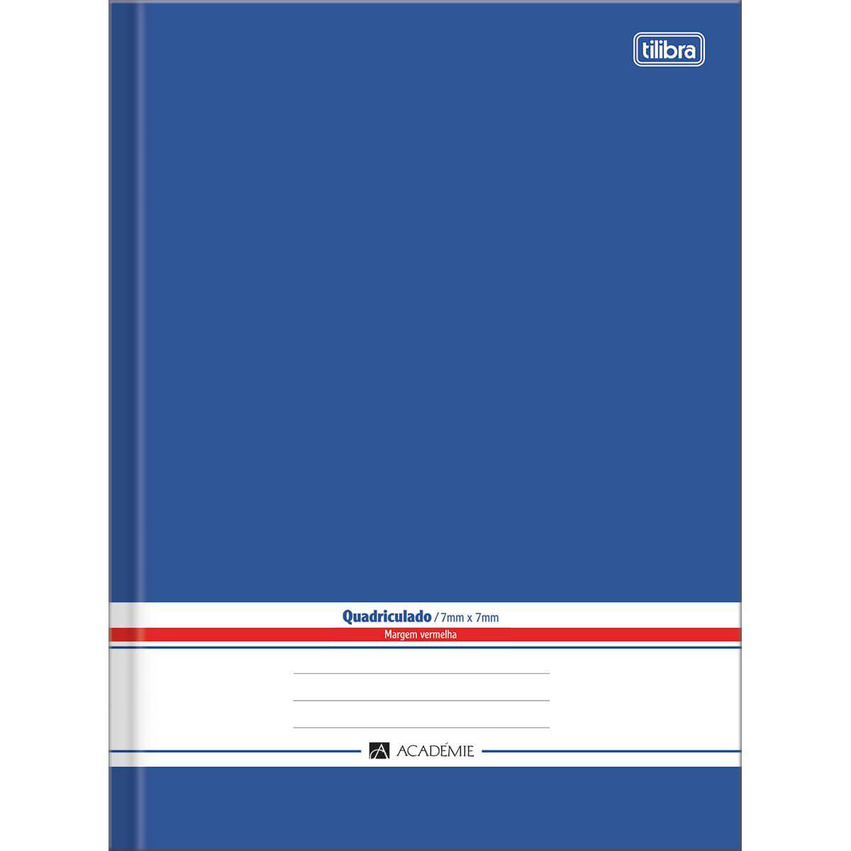 Caderno quadriculado 7x7 96 fls azul Academie Tilibra