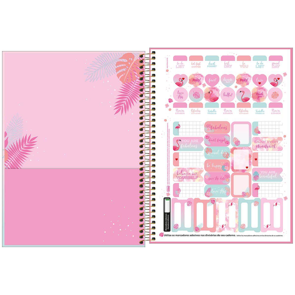 Caderno universitário 10 matérias 160 fls Aloha Tilibra