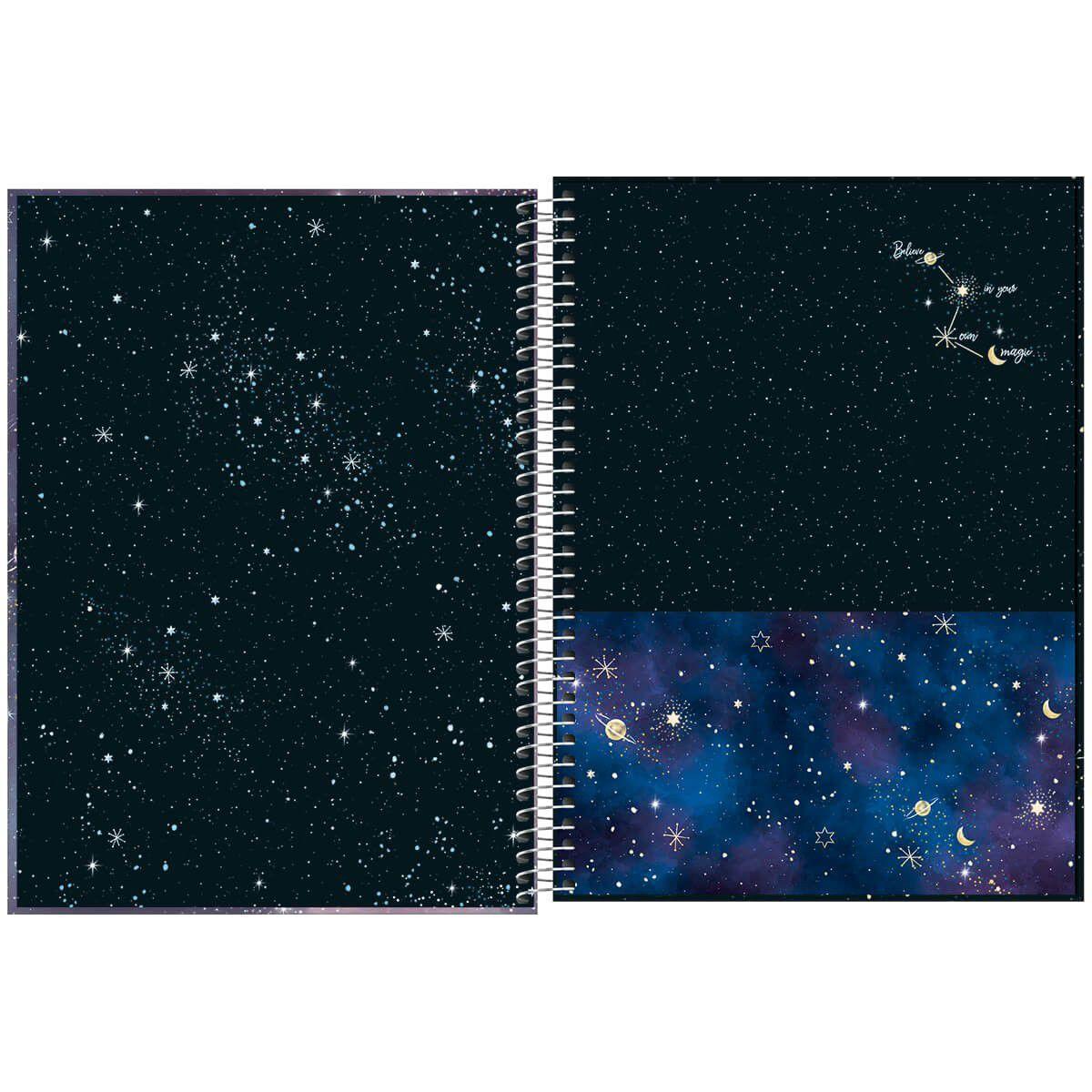 Caderno universitário 10 matérias 160 fls Magic Tilibra