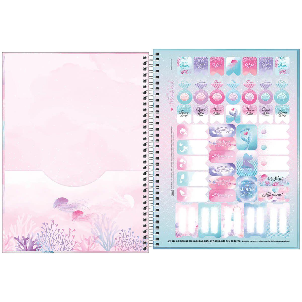 Caderno universitário 12 matérias 192 fls Wonder Tilibra