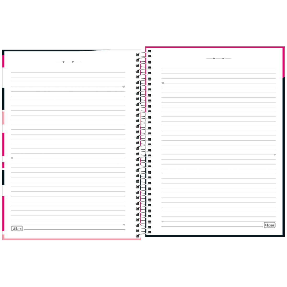 Caderno universitário 16 matérias 256 fls Love Pink Tilibra