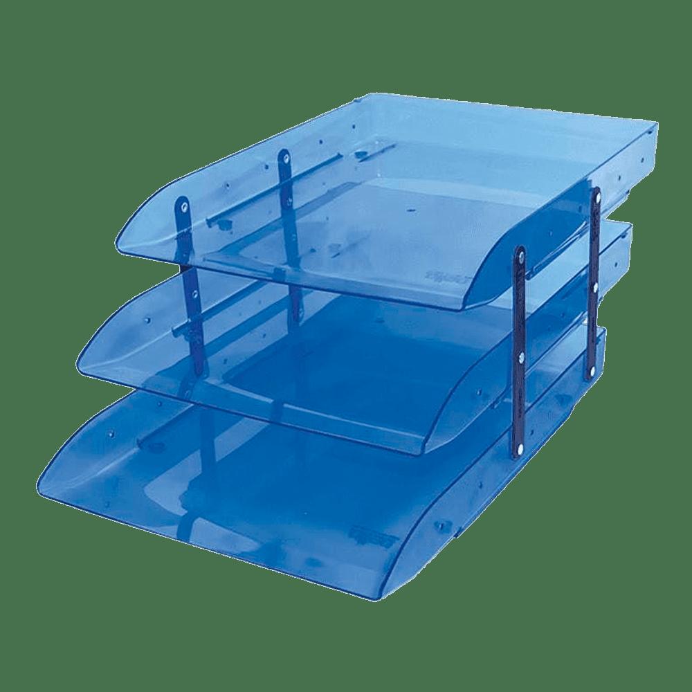 Caixa correspondência tripla articulável azul Novacril