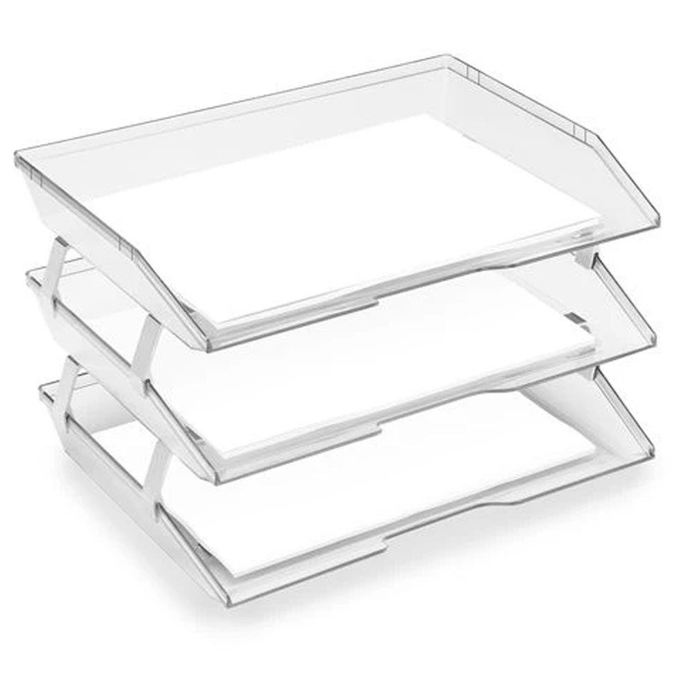 Caixa correspondência fixa lateral tripla cristal Acrimet