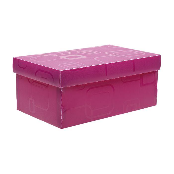 Caixa de sapato rosa Dello