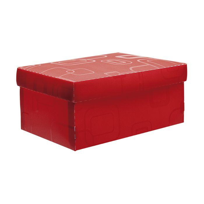 Caixa de sapato vermelho Dello