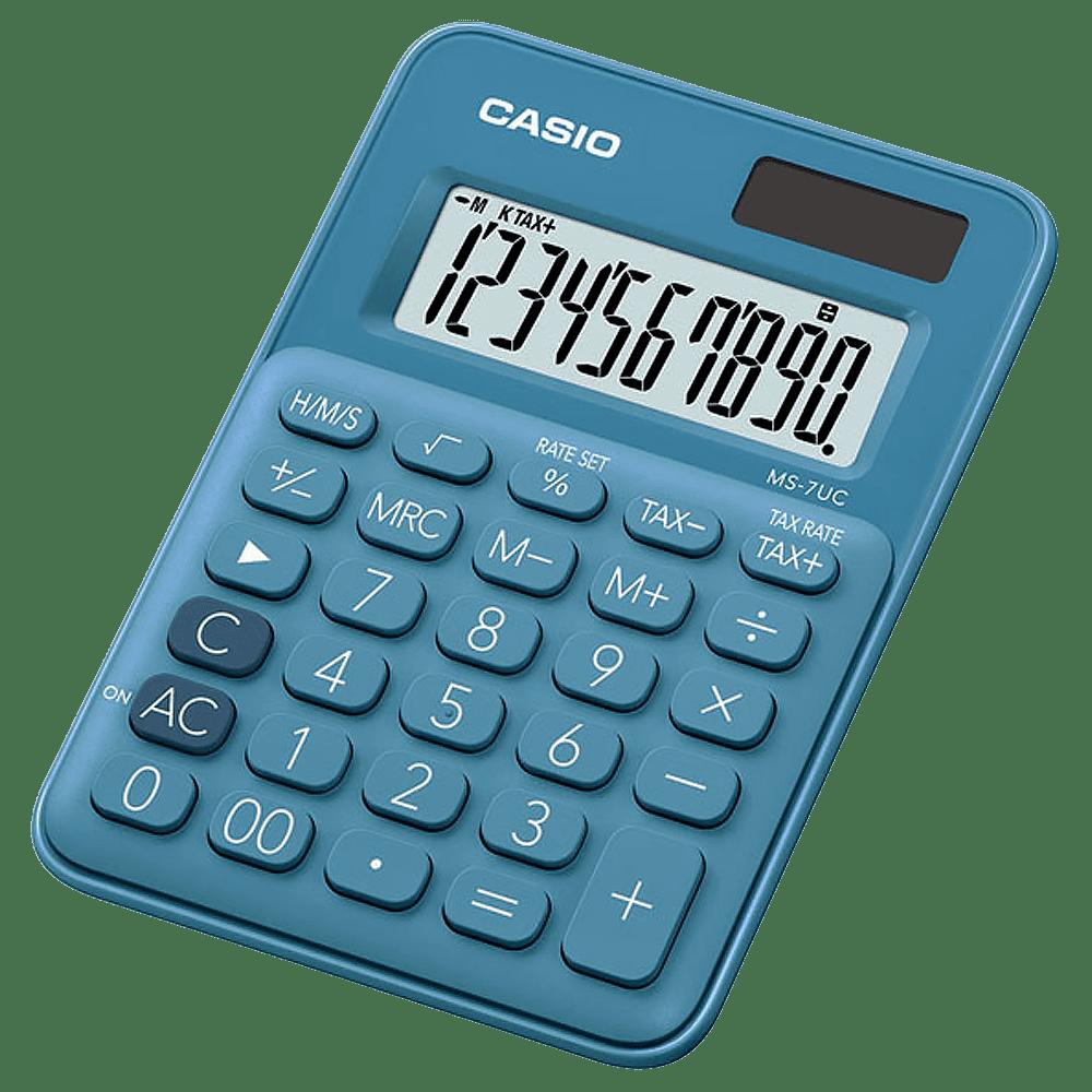 Calculadora 10 dígitos MS-7UC Azul Casio