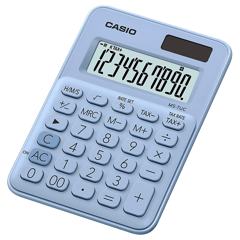 Calculadora 10 dígitos MS-7UC Azul claro Casio