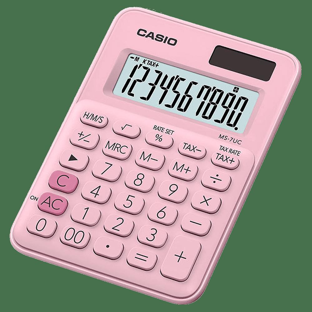 Calculadora 10 dígitos MS-7UC Rosa claro Casio