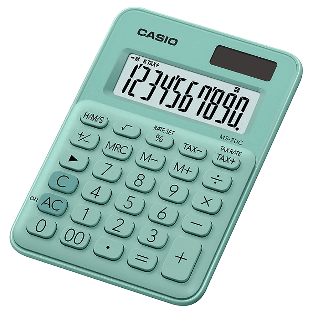 Calculadora 10 dígitos MS-7UC Verde claro Casio